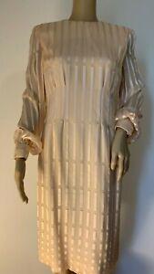 Vintage RICHILENE pink silk dress