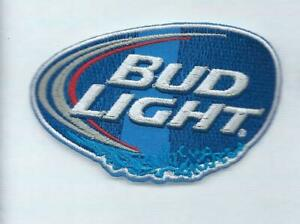 NEW 2 3/8 X 3 5/8 INCH BUD LIGHT BEER IRON ON PATCH FREE SHIPPING P1