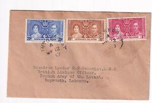 LEEWARD ISLANDS 1937 CORONATION stamps used on FDC in Monserrat