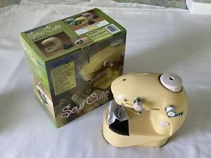 """""""Sew Cute"""" Portable Sewing Machine Model #SC 20 by White In Original Box-Yellow"""