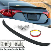 Matte Black Rear Lip Spoiler Wing Factory Style For Toyota Corolla 2014