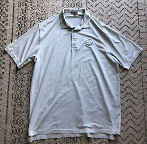 Pinehurst Peter Millar Summer Comfort white & green striped golf polo shirt (XL)