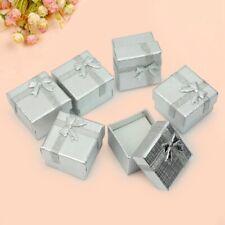 Bulk Lot 24Pcs Silver Square Jewelry Ring Gift Cardboard Box Present Case Holder
