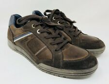 Ecco Men's Casual Lace-Up Sneakers Size 39 Brown Leather/Suede