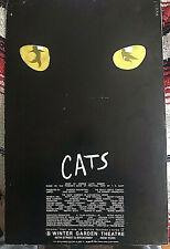 Cats Andrew Lloyd Webber original Broadway musical US premiere window card 1982