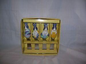 New in Box, Set of 4 Ceramic Bunny Cheese Spreader, Jelly Spreaders