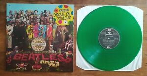 THE BEATLES / SERGEANT PEPERR'S / ORIGINAL LP. FRENCH COLOR VINYL GREEN!!!
