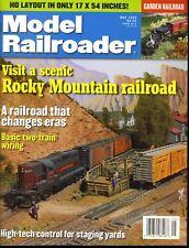 Model Railroader Magazine May 1999 Visit a scenic Rocky Mountain railroad