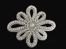 Sew Iron On Hotfix Rhinestone Applique Bridal Wedding Trim Band Crystal Motif 9