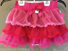 Hello Kitty Tutu Size 6 26.00 retail tiered pink tulle soft  Girls skirt