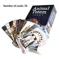 78 PCS / Set New Animal Totem Tarot Cards Jeux De Cartes Version Anglaise Card