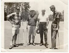 Original Photo of 4 Mature Men Posing on Golf Course, 1960's EB44