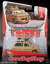 Disney Cars 2 Lubewig Toy Diecast Mattel Pixar Paris Tours brown Station Wagon