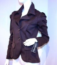 RINASCIMENTO Jacket ITALY Brown POWER Shoulder BLAZER L FREE SHIPPING
