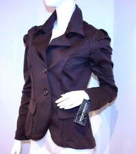 RINASCIMENTO Jacket ITALY Brown POWER Shoulder BLAZER L FREE SHIPPING