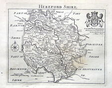 Herefordshire, John Roque, Angleterre displayed antique County Map 1769