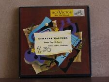 "STRAUSS WALTZES BOSTON POPS - RED VINYL 4 7"" BOX WDM445"