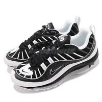 Nike Air Max 98 Black White Silver Mens Running Shoes Sneakers 640744-010