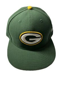 Green Bay Packers New Era 59Fifty Cap Hat 7 3/8 NFL  Embroil #52 Clay Mathew