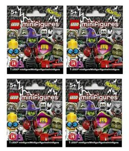 Lego MiniFigures series 14 Bundle 4X New Sealed Blind Bags Packs