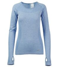 Nike Dri Fit Knit Long Sleeved T Shirt Women's Uk Extra Small (718582 422)