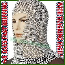 Aluminium chain mail coif, lightweight and rust proof! - aluminum chainmail hood