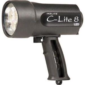 underwater spearfishing scuba diving torch IKELITE C-LITE 8 LED Flashlight Black