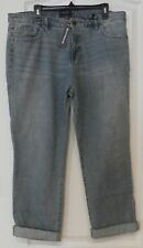 Chaps Boyfriend Fit Straight Leg Cropped Blue Jeans Women's Sz 6 NWT MSRP$69