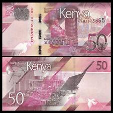 Kenya P41a 50 Shillings Kenyata camel caravan UNC see UV Mobasa Tusks Mnmt