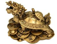 Feng Shui Chinese Dragon Turtle Tortoise Statue Home Office Decor Blessing Gift4
