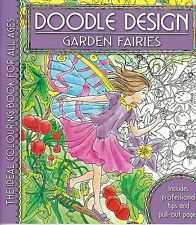 Garden Fairies Colouring Book - Doodle Design - Art Therapy