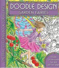 Garden Fairies Colouring Book - Doodle Design - Art Therapy