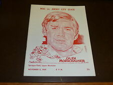1969 JERSEY CITY STATE (NJ) AT MONTCLAIR STATE (NJ) COLLEGE FOOTBALL PROGRAM