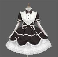 Maid Wear Gothic Lolita Long Sleeves White Dress Halloween Custom Made