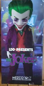 """LDD The Joker Mezco Toyz 10"""" Figure Living Dead Dolls Batman DC with Gun"""