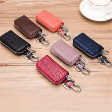 AU Women Men Key Wallet Crocodile Genuine Leather Car Remote Key Bag Case Holder