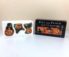 Fitz and Floyd Halloween Jack-O-Lantern Tumblers Crows And Pumpkins 2004