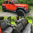 2018 - 2021 Jeep Wrangler Jl Sahara Sport 4dr Black Leather Seat Covers Upgrade