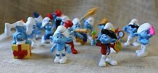 "Lot (15) 2011 Peyo SMURFS McDonalds Happymeal 3"" PVC Figures Cake Toppers Blue"