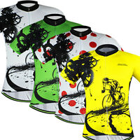 Men's Cycling Jersey Full Zip Bike Bicycle Jersey Shirt Leading Racer 4-Color
