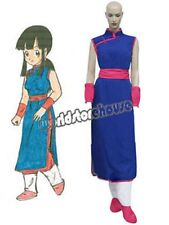 Dragon Ball Chi Chi Blue Cosplay Costume Halloween Girl's Dress Cheongsam Sash A