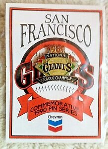 "1989 San Francisco Giants ""National League Champions"" lapel pin (Chevron) New!"
