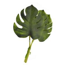 Artificial Soft Split Philodendron Leaf Bundle, 13-Inch, 3-Count