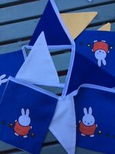'Miffy' the Rabbit MULTICOLOURED BUNTING in 100% Cotton Fabric