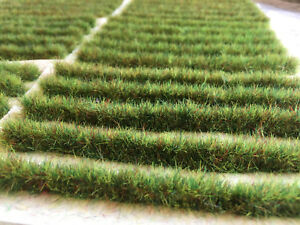 Summer Tall Grass Strips 14cm -Static Tufts Model Scenery Railway Green Hedge