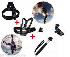 Chest Harness & Head Strap Mount & Monopod Tripod For Gopro Camera Hero 1 2 3 3+