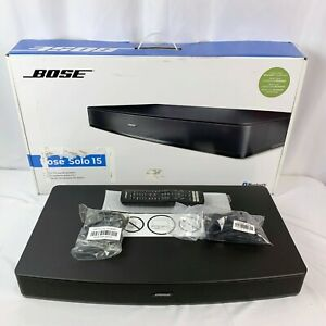Bose Solo 15 Series II TV Sound System Black With Remote Tested Working