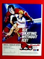 SKeelers Ice Skating Without Ice RARE Regional Original Print Ad 8.5 x 11""