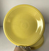 "Fiesta Yellow Sunflower 7"" inch Salad Plate Lot of 5"