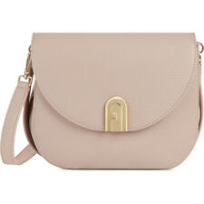 Woman Shoulder Bag Furla Sleek Small Size 1044971 in Beige Leather and Crossbody
